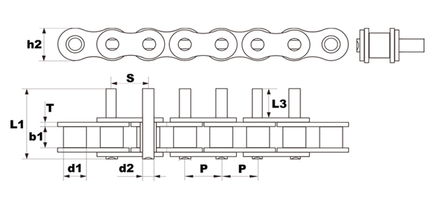#35 d3 attachment roller chain diagram