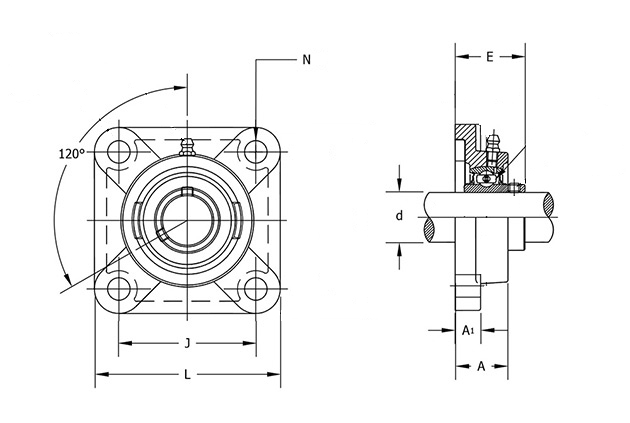 ucf207-22 bearing diagram