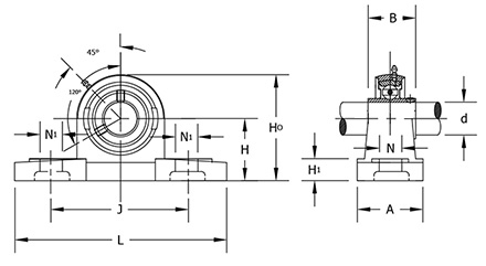 ucp-206-18 bearing diagram