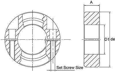 DSSC3/8 Split Collar Diagram