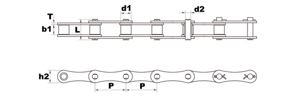 a2060 roller chain diagram