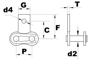 SA1 attachment connecting link diagram
