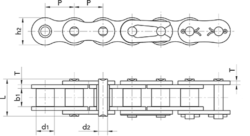 80 roller chain diagram