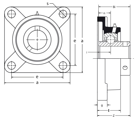 "1-3//4/"" ZINC WIDE 4-BOLT FLANGE NEW Details about  /AMI Bearings UCF209-28NPMZ2"