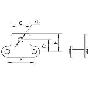 SK1 attachment connecting link diagram