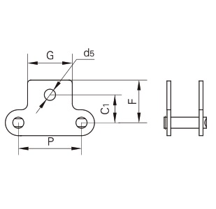 K1 attachment connecting link diagram
